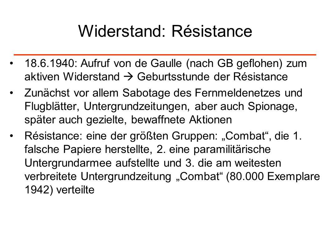 Widerstand: Résistance