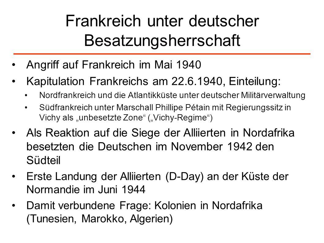 Frankreich unter deutscher Besatzungsherrschaft