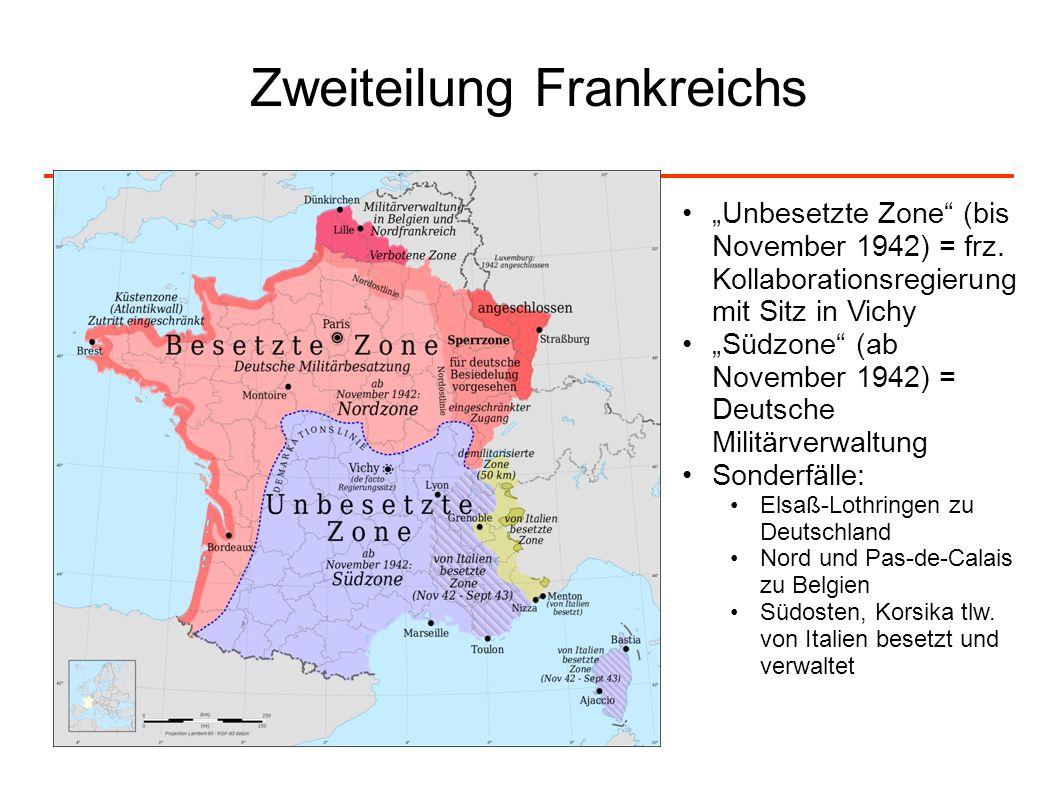 Zweiteilung Frankreichs
