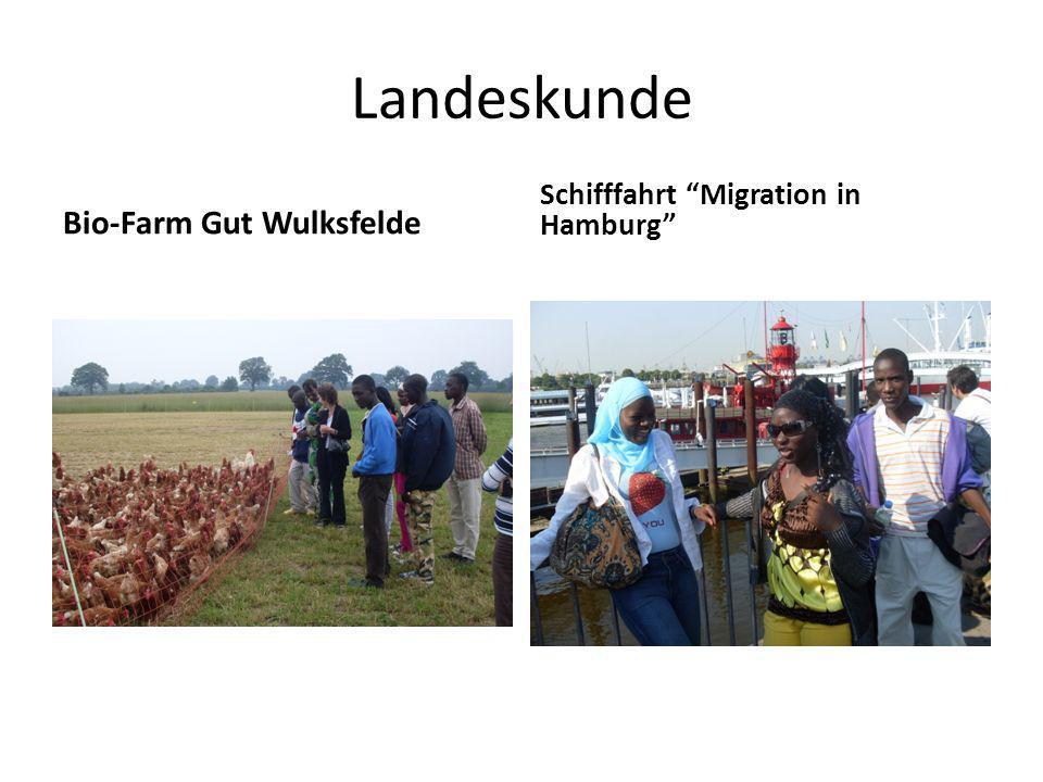 Landeskunde Bio-Farm Gut Wulksfelde Schifffahrt Migration in Hamburg