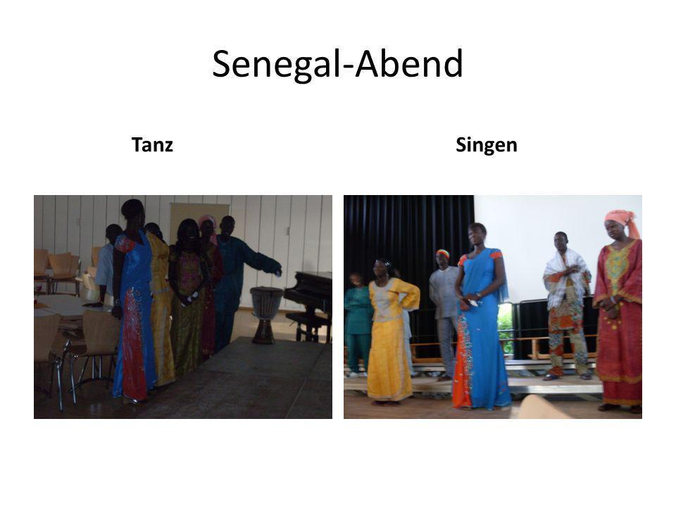 Senegal-Abend Tanz Singen