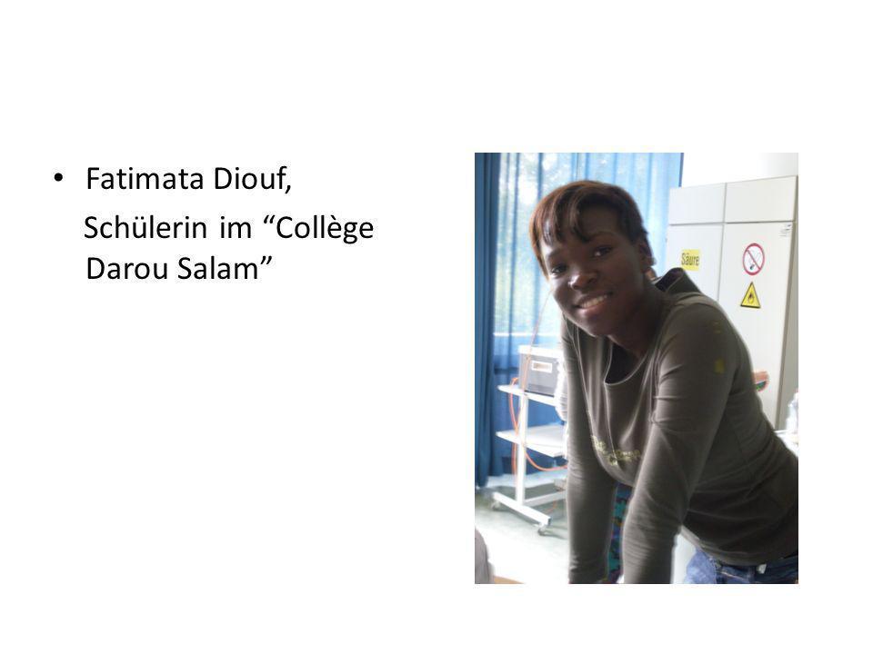 Fatimata Diouf, Schülerin im Collège Darou Salam