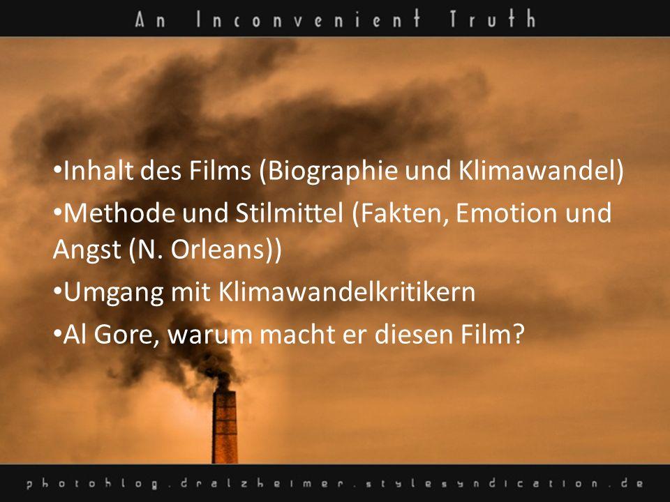 Inhalt des Films (Biographie und Klimawandel)
