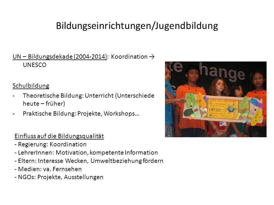 Bildungseinrichtungen/Jugendbildung