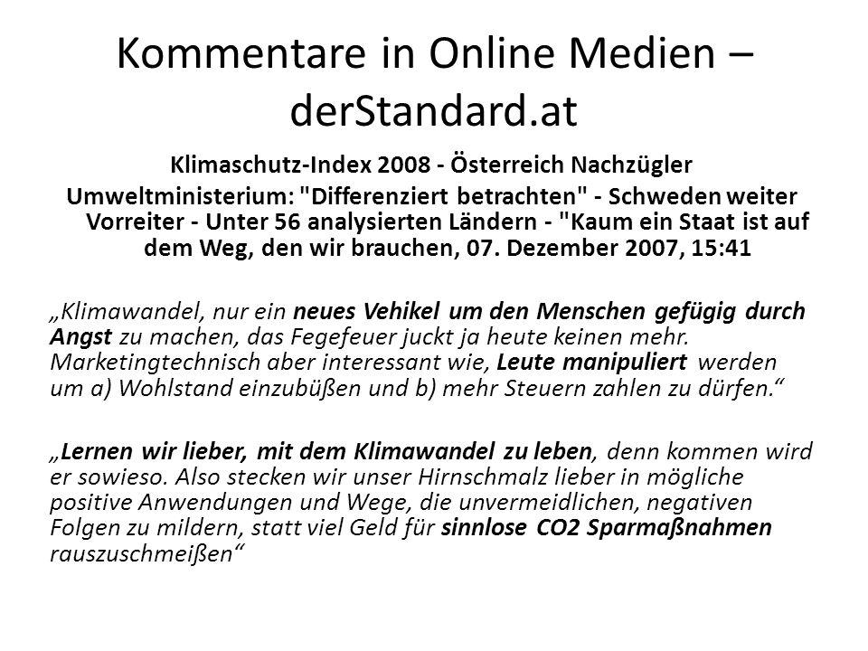 Kommentare in Online Medien – derStandard.at