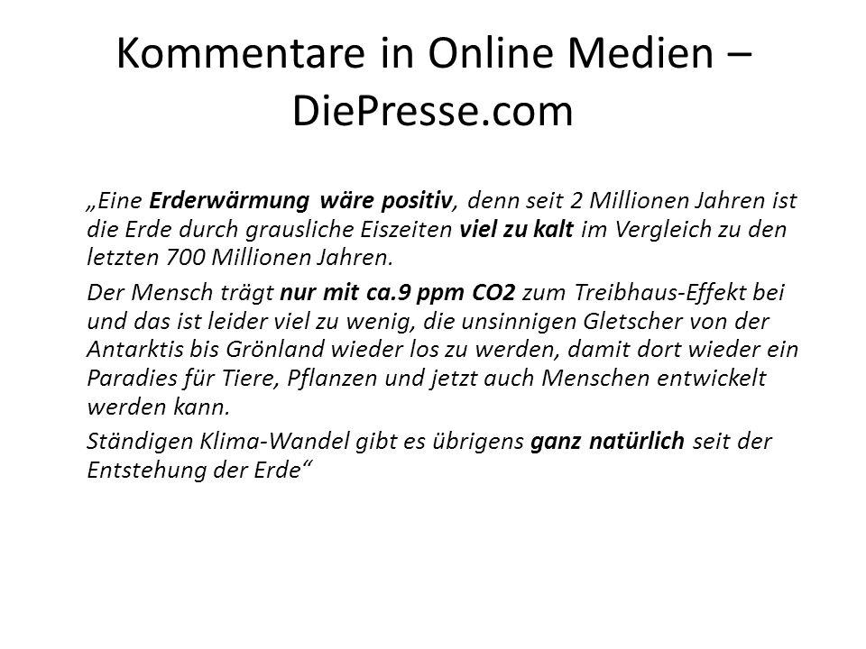Kommentare in Online Medien – DiePresse.com