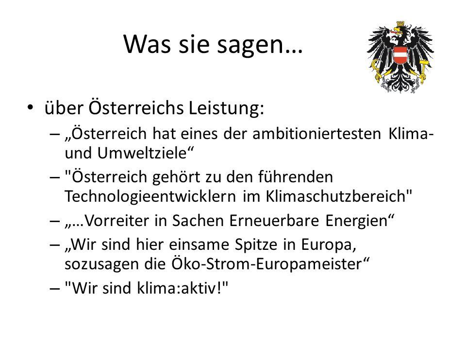 Was sie sagen… über Österreichs Leistung: