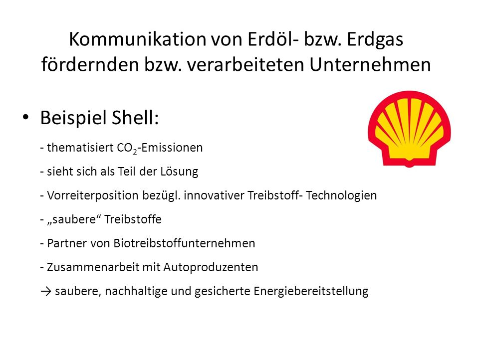Kommunikation von Erdöl- bzw. Erdgas fördernden bzw