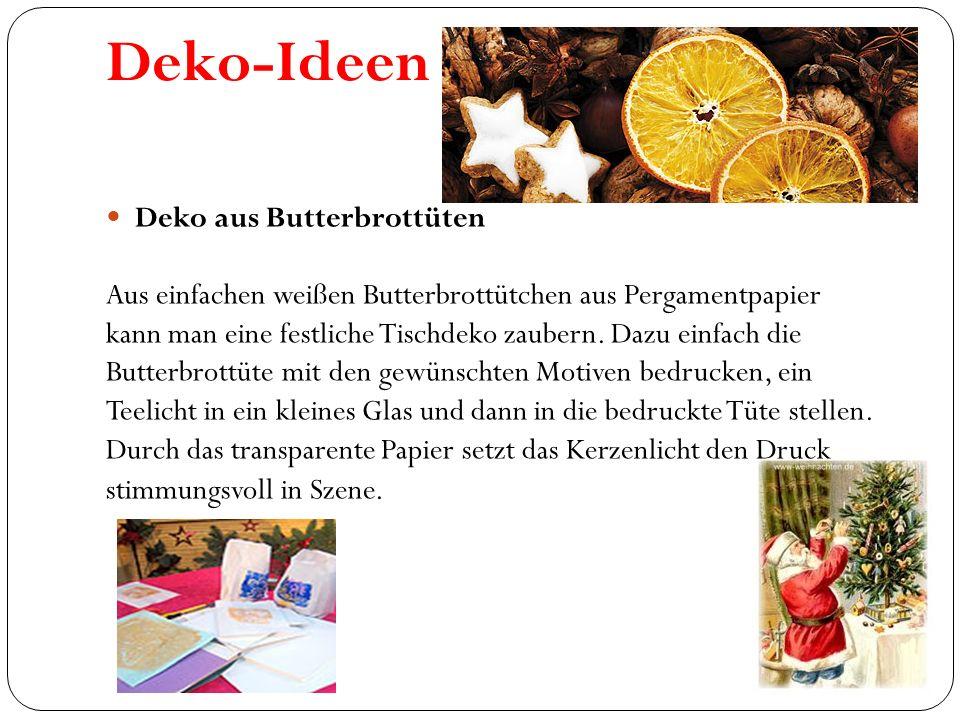 Deko-Ideen Deko aus Butterbrottüten