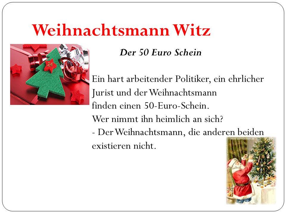 Weihnachtsmann Witz Der 50 Euro Schein