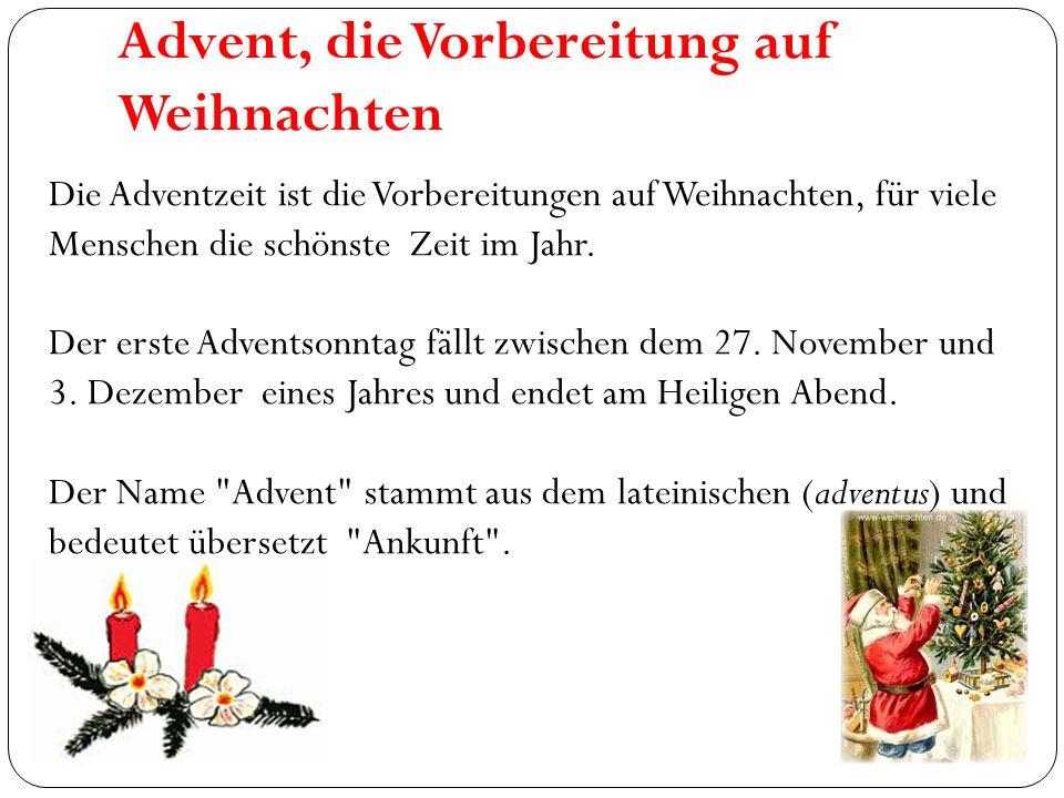 Advent, die Vorbereitung auf Weihnachten