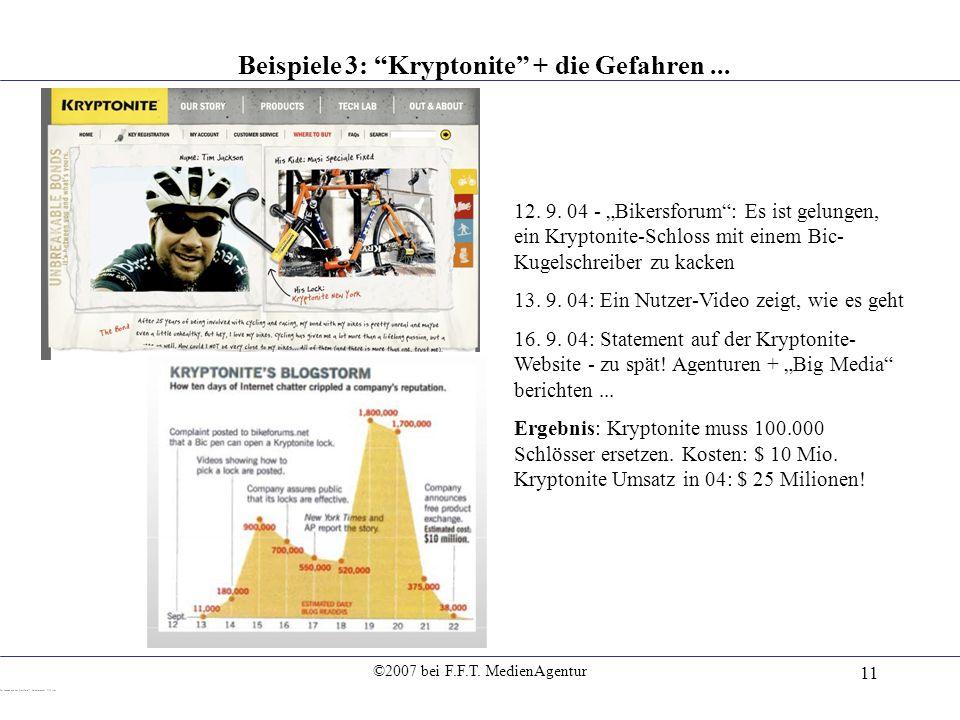 Beispiele 3: Kryptonite + die Gefahren ...