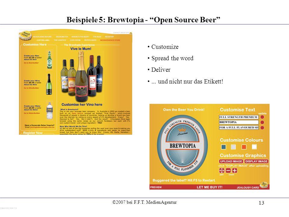 Beispiele 5: Brewtopia - Open Source Beer