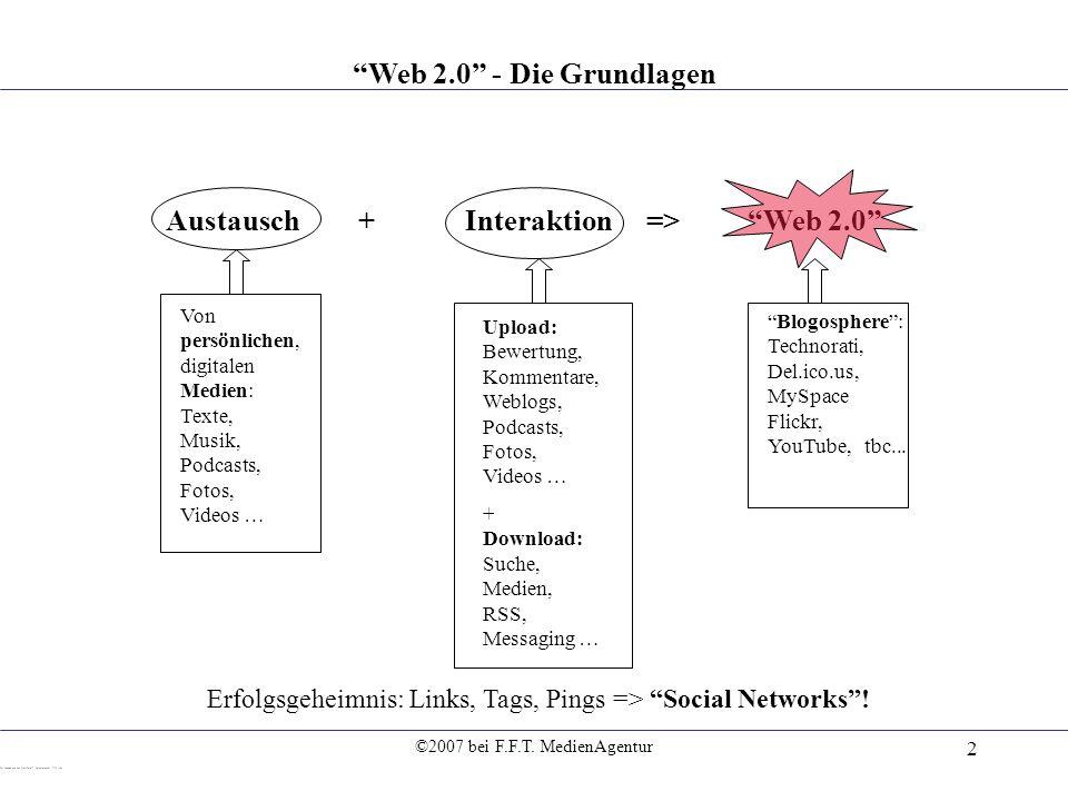 Austausch + Interaktion => Web 2.0