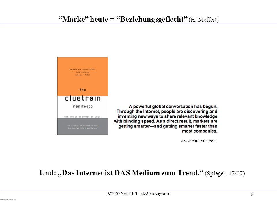 Marke heute = Beziehungsgeflecht (H. Meffert)