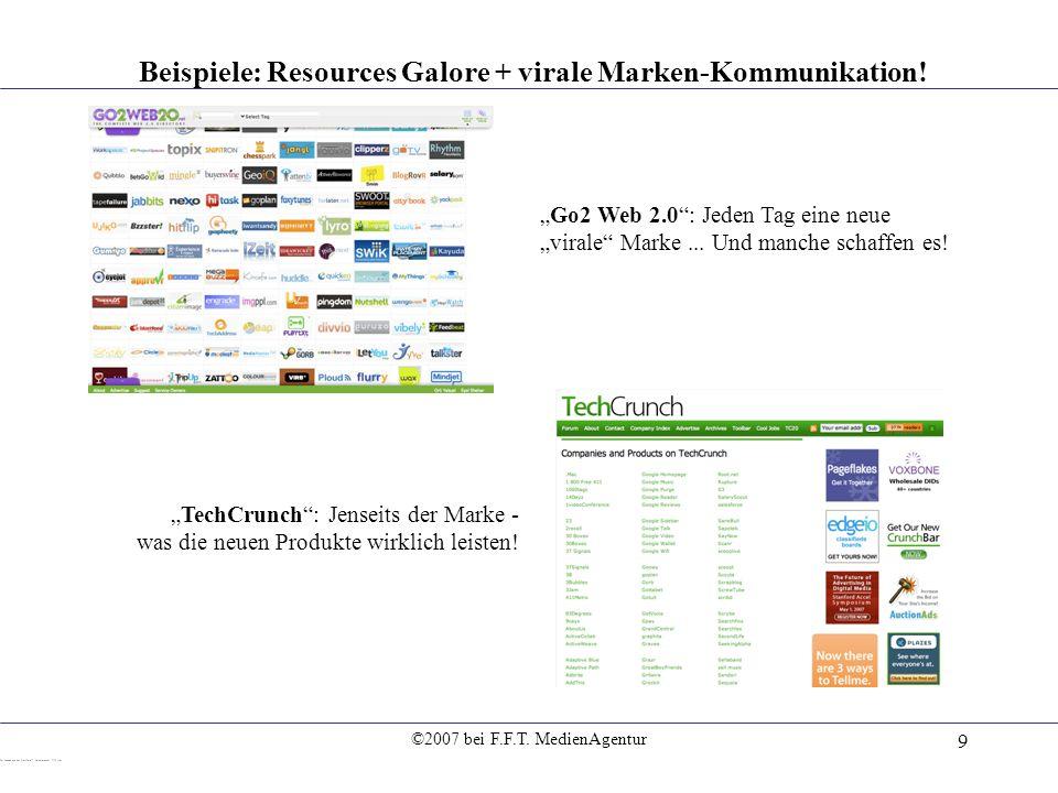 Beispiele: Resources Galore + virale Marken-Kommunikation!