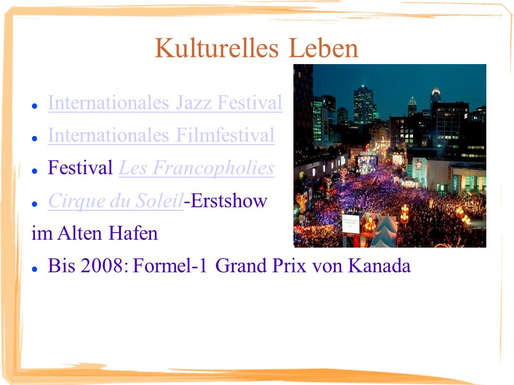 Kulturelles Leben Internationales Jazz Festival