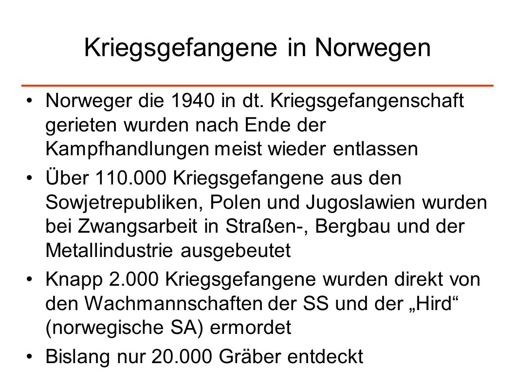 Kriegsgefangene in Norwegen