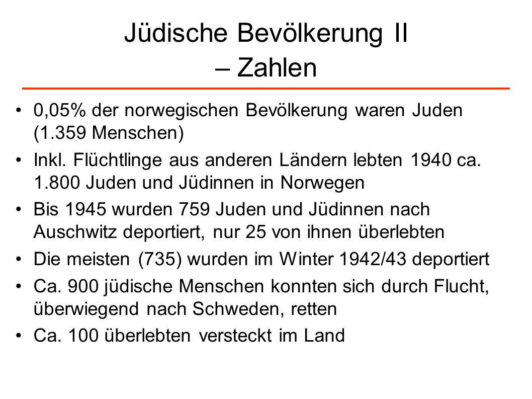 Jüdische Bevölkerung II – Zahlen