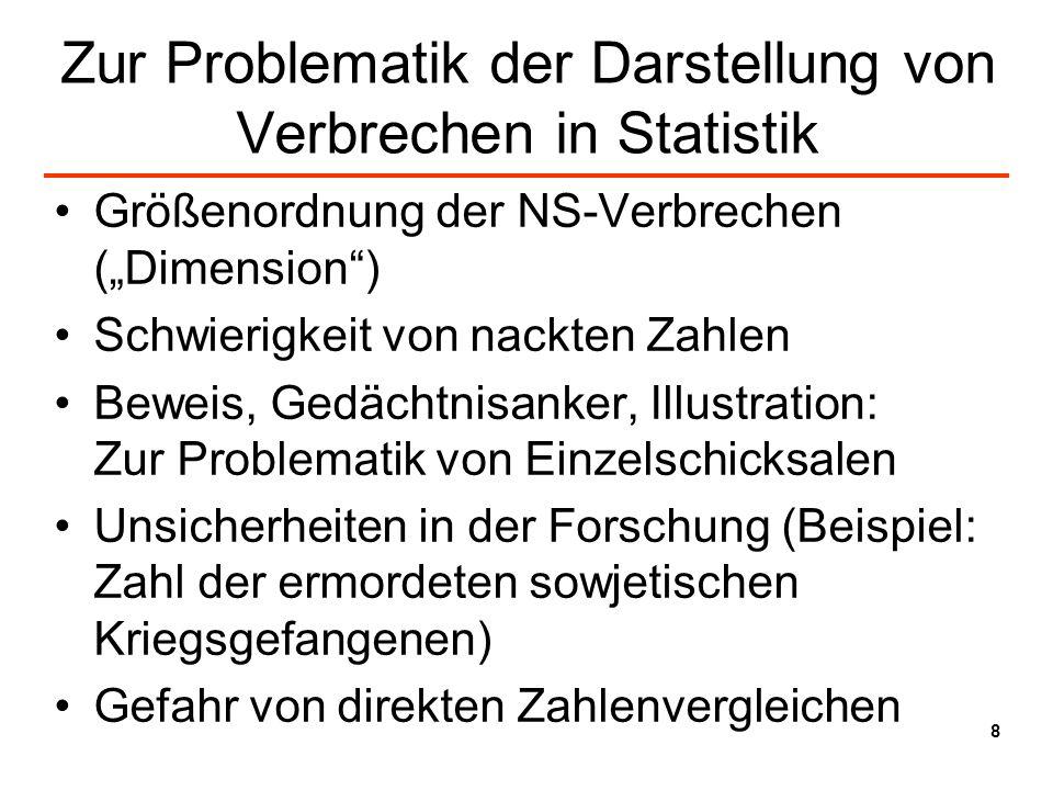 Zur Problematik der Darstellung von Verbrechen in Statistik