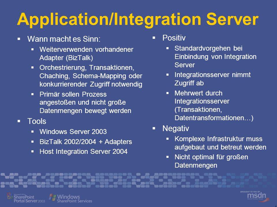 Application/Integration Server