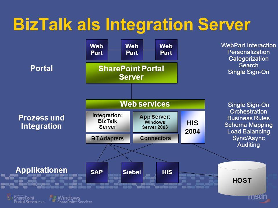 BizTalk als Integration Server