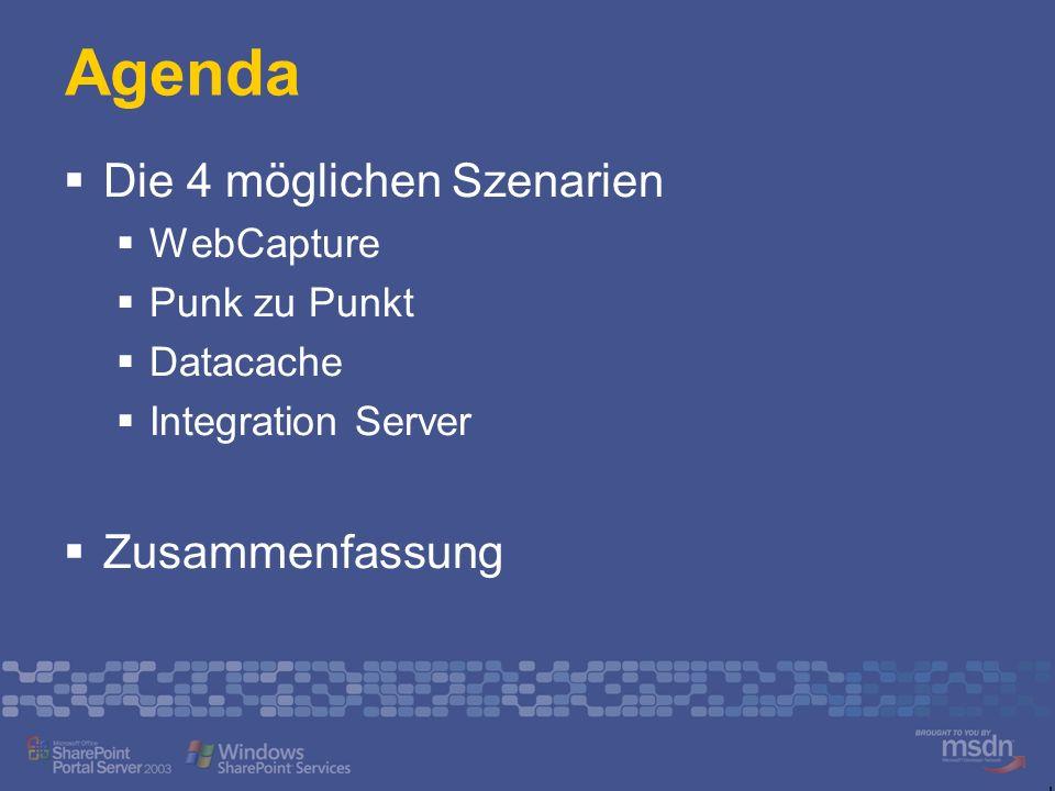 Agenda Die 4 möglichen Szenarien Zusammenfassung WebCapture