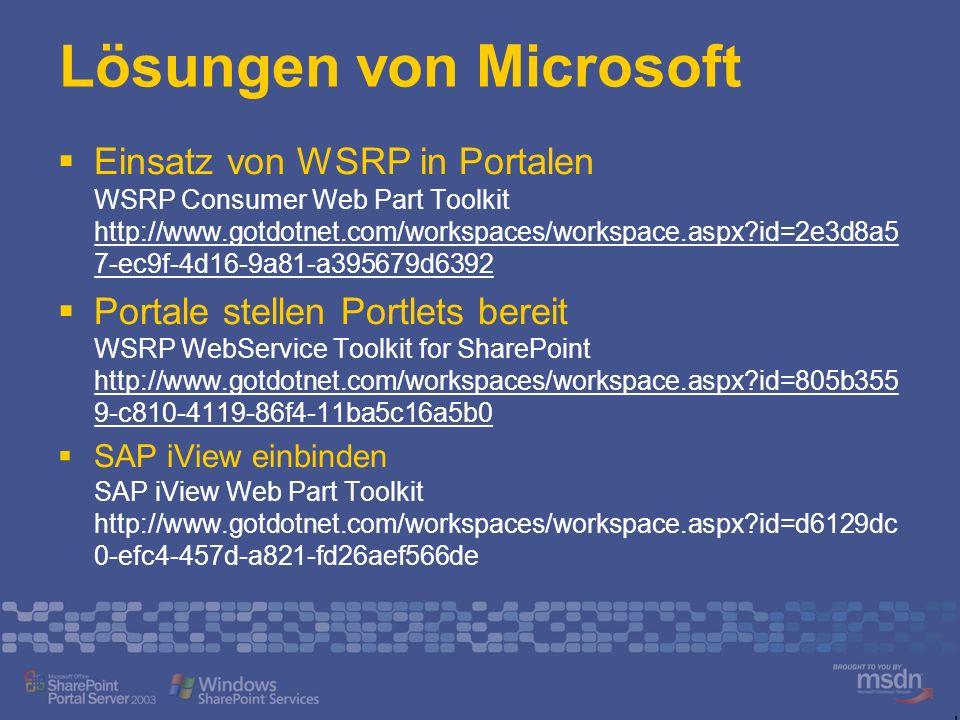 Lösungen von Microsoft