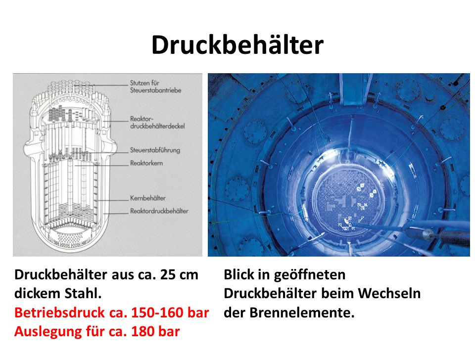 Druckbehälter Druckbehälter aus ca. 25 cm dickem Stahl.