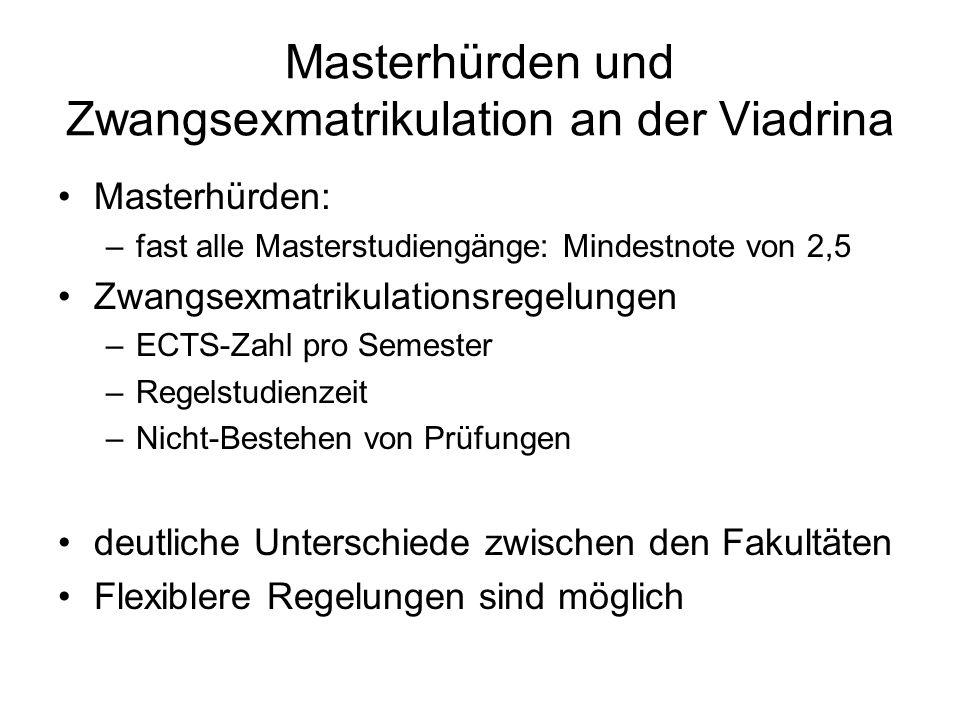 Masterhürden und Zwangsexmatrikulation an der Viadrina