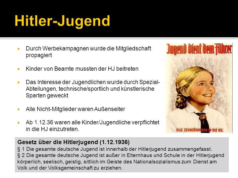 Hitler-Jugend Gesetz über die Hitlerjugend (1.12.1936)