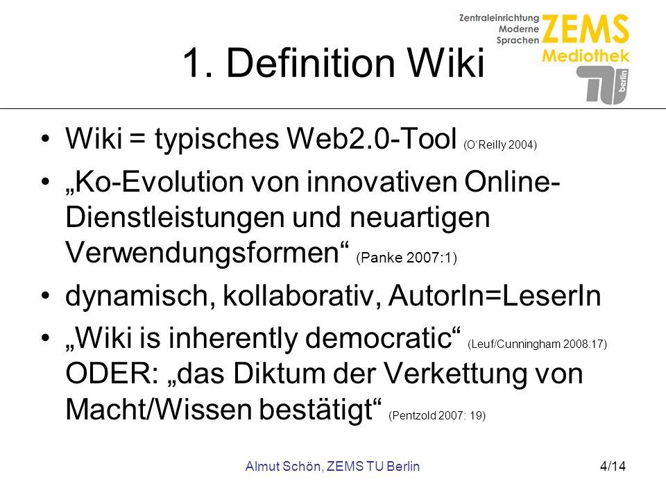 Almut Schön, ZEMS TU Berlin