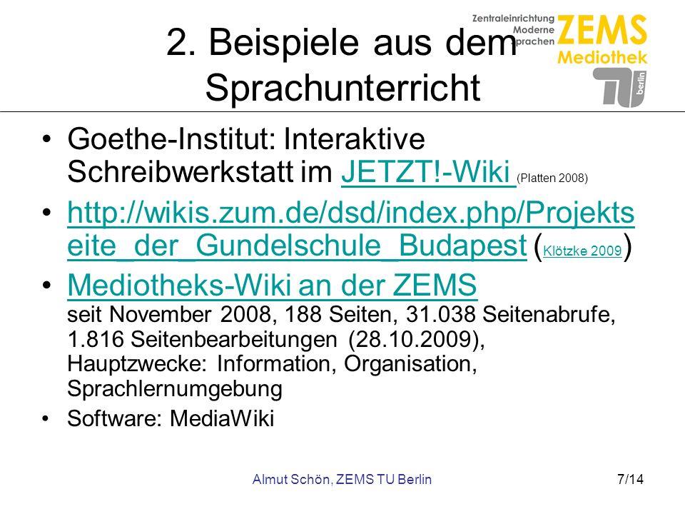 2. Beispiele aus dem Sprachunterricht