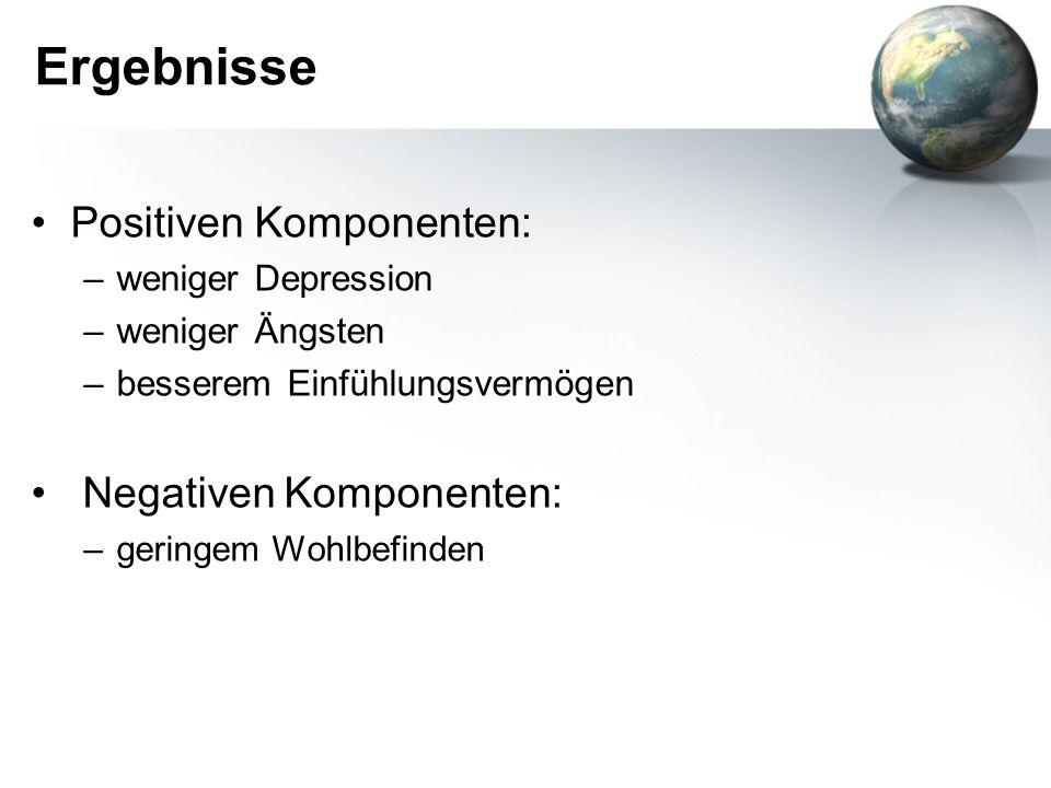 Ergebnisse Positiven Komponenten: Negativen Komponenten: