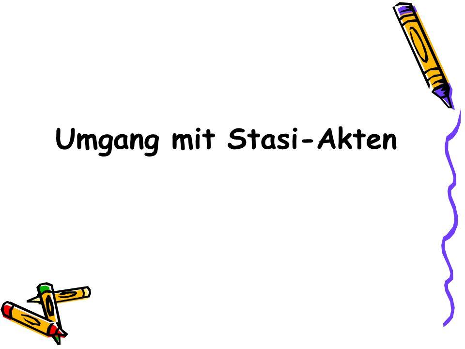 Umgang mit Stasi-Akten
