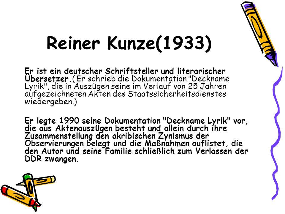 Reiner Kunze(1933)
