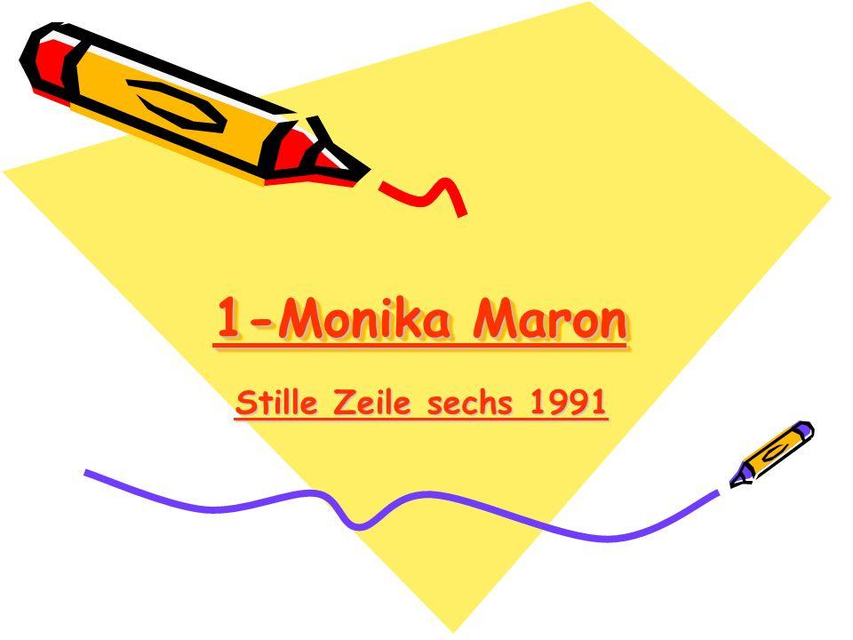 1-Monika Maron Stille Zeile sechs 1991