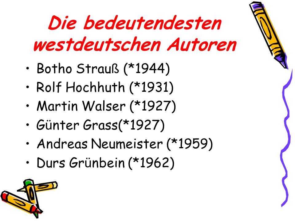 Die bedeutendesten westdeutschen Autoren
