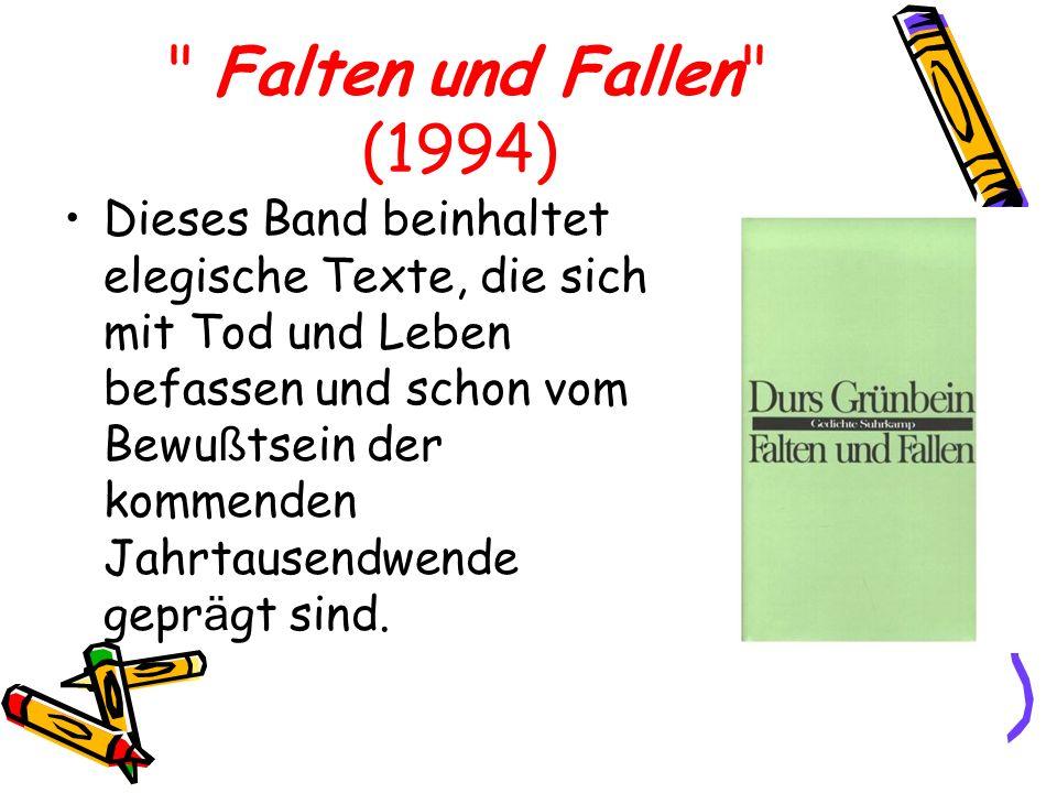 Falten und Fallen (1994)