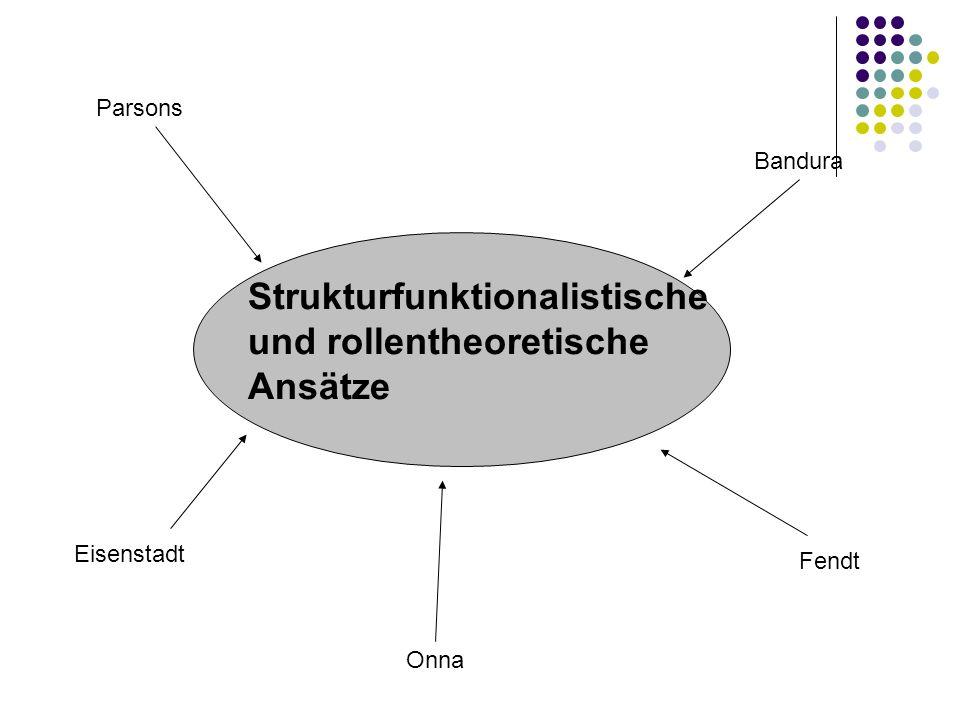 Strukturfunktionalistische und rollentheoretische Ansätze