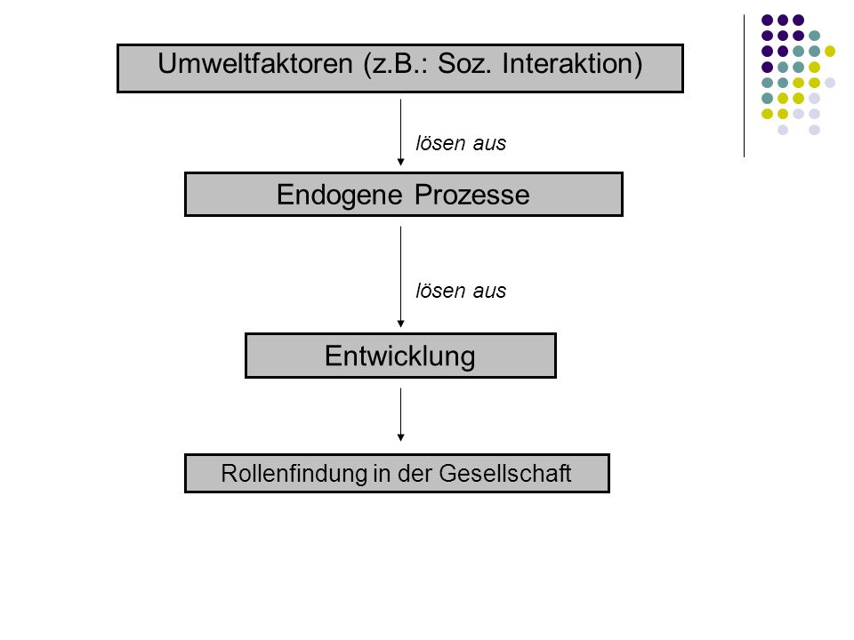 Umweltfaktoren (z.B.: Soz. Interaktion)
