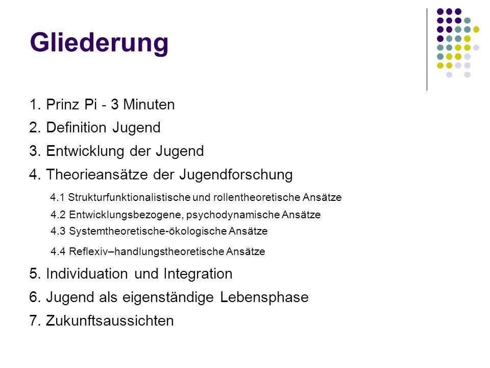 Gliederung 1. Prinz Pi - 3 Minuten 2. Definition Jugend
