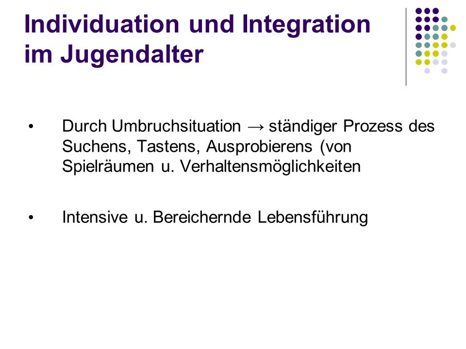 Individuation und Integration im Jugendalter