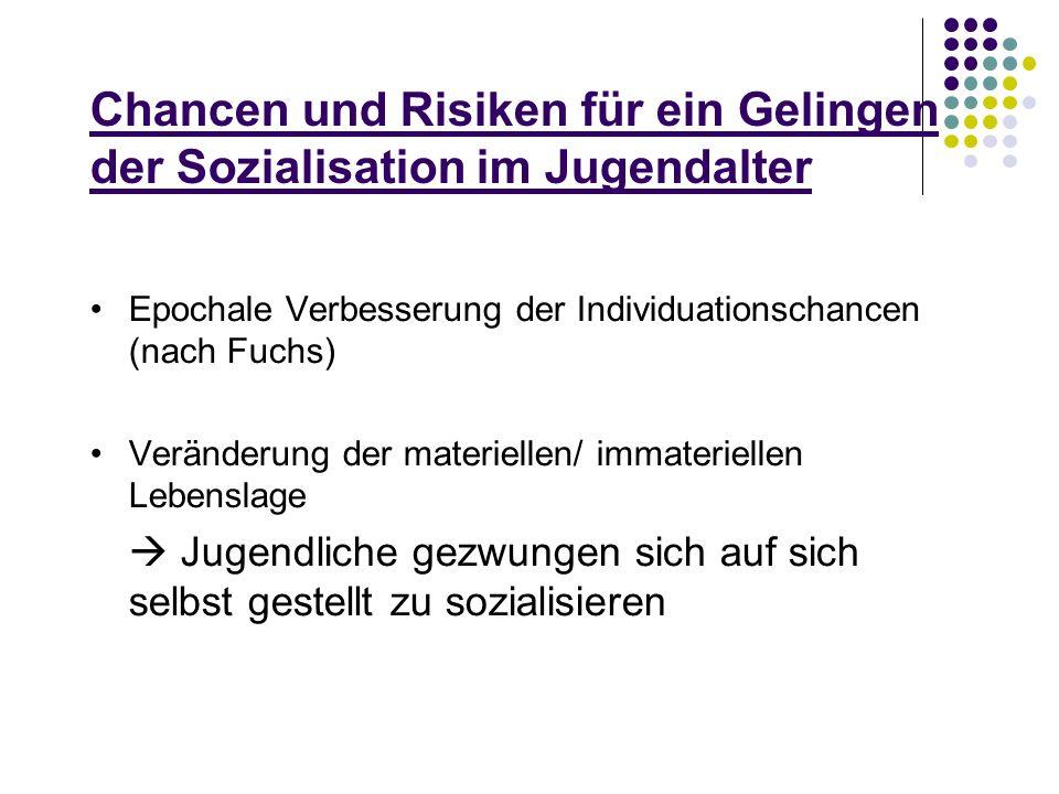 Chancen und Risiken für ein Gelingen der Sozialisation im Jugendalter