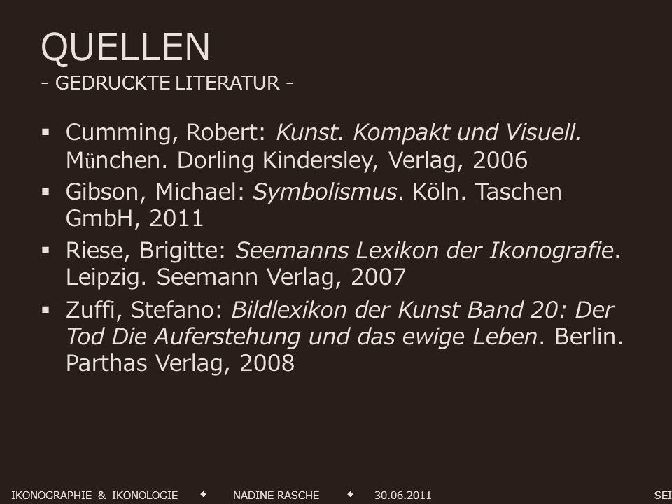 QUELLEN - GEDRUCKTE LITERATUR -
