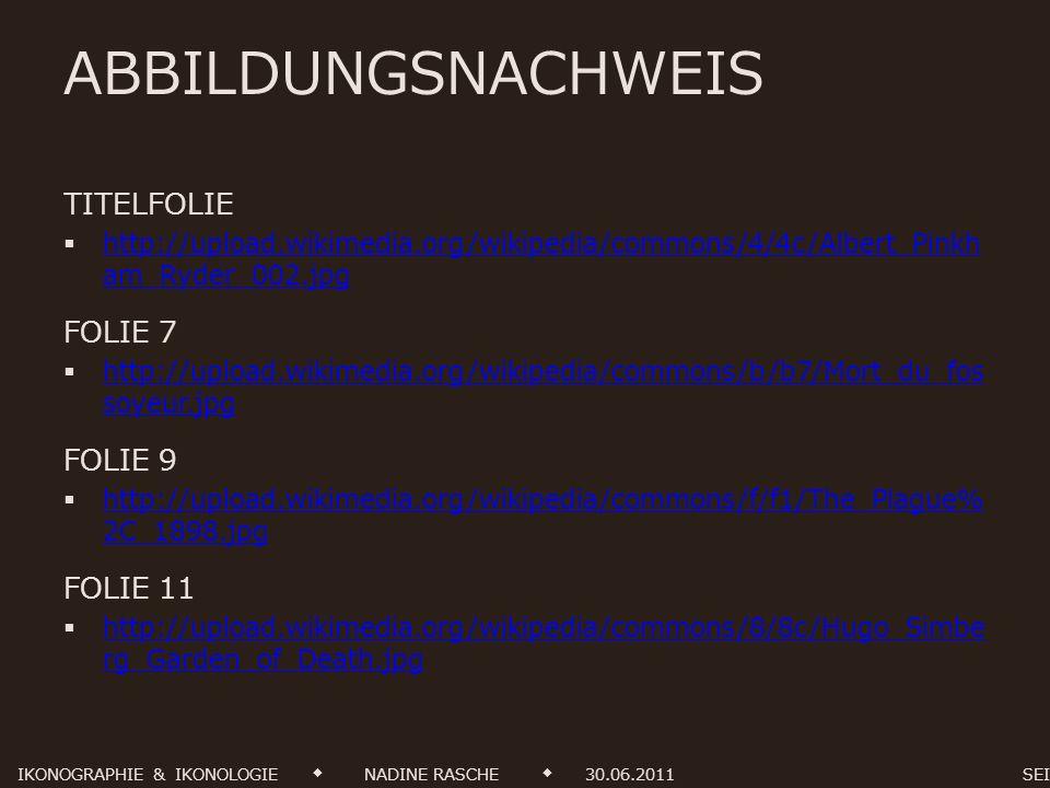 ABBILDUNGSNACHWEIS TITELFOLIE FOLIE 7 FOLIE 9 FOLIE 11