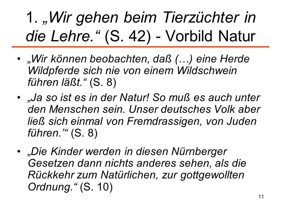 """1. """"Wir gehen beim Tierzüchter in die Lehre. (S. 42) - Vorbild Natur"""