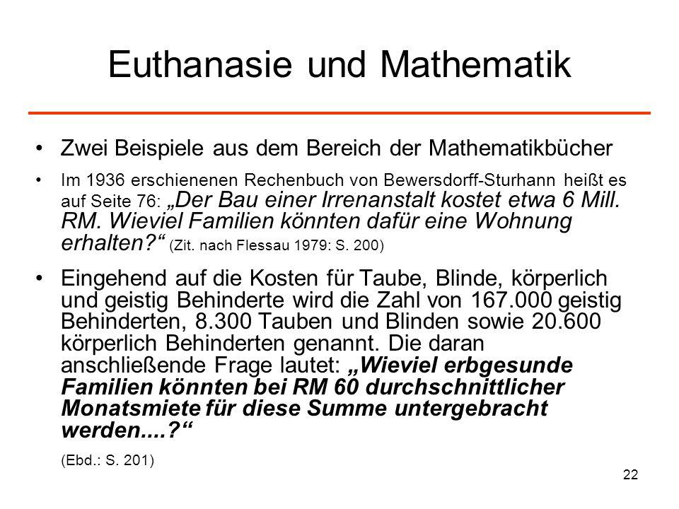 Euthanasie und Mathematik