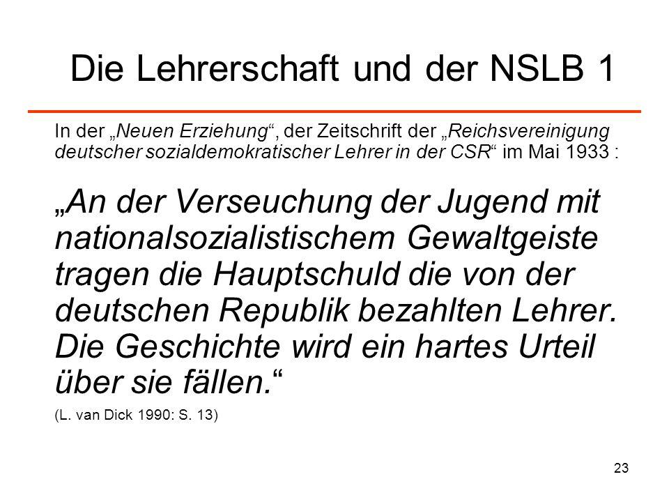 Die Lehrerschaft und der NSLB 1
