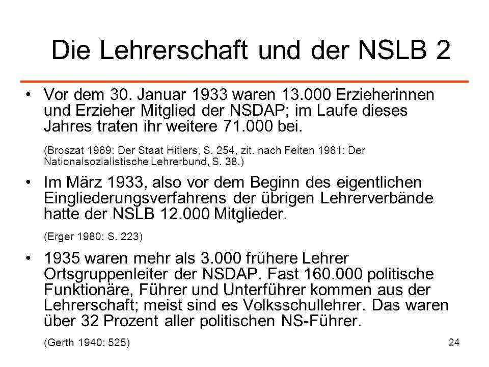 Die Lehrerschaft und der NSLB 2